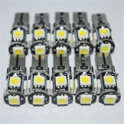 10x T10 Led Canbus Error Free 5 SMD Car Side Wedge light Bulb White W5W 168 194