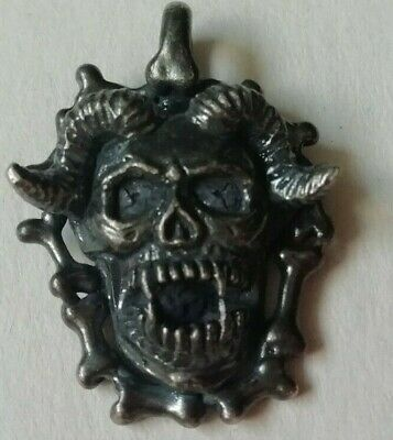 Ancient Viking Norse Solid Silver Detailed Pendant Amulet Circa 800-900 Ad Rare