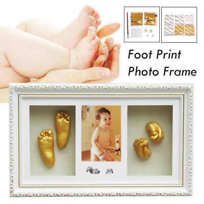 DIY 3D Baby Casting Kit Hand & Foot Print Unique Keepsake Shadowbox Photo Frame