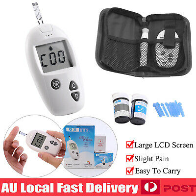 Blood Glucose Monitor Test Sugar Meter Diabetic Glucometer 50 Lancets 50 Strip