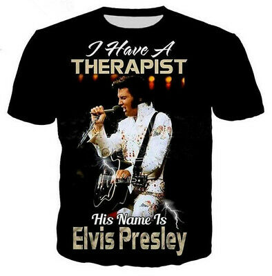 Fashion rap elvis Aaron presley 3D Print T-Shirt Women/men's Casual Short Sleeve