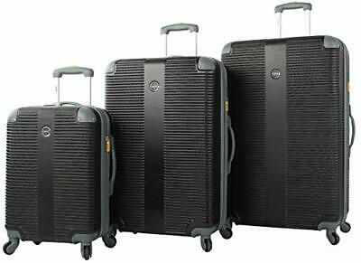 26192836b Lucas Luggage 3 Piece Rolling Suitcase Set Hard Case With Spinner Wheels