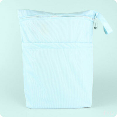 LittleLamb Double Wet Nappy Bag - Large Wet bag for storing cloth nappies