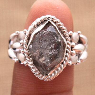 Rough Herkimer Diamond 925 Sterling Silver Solid Handmade Ring Size us 7.75