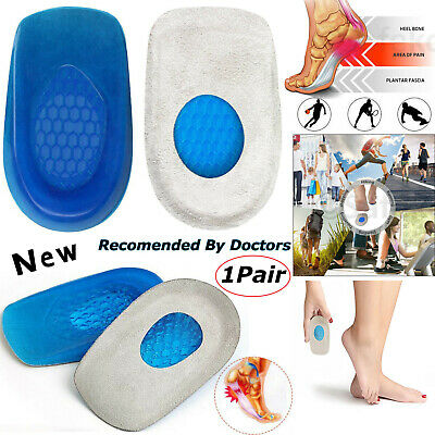 Silicone Plantar Support Shoe Pads Gel Orthotic Heel Care Insert Insoles Cushion