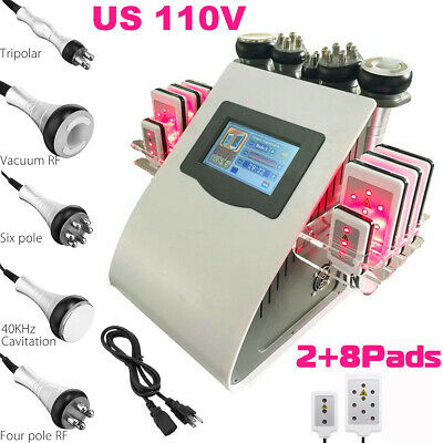 EU Ultrasonic 6in1 Vacuum Cavitation RF Radio Frequency Slim Cellulite Machine