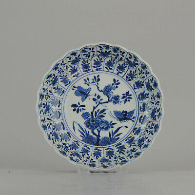 Ca 1700 Kangxi Chinese Porcelain Plate High Quality Butterfly Marked [:z...