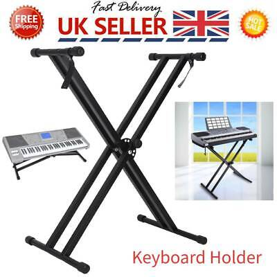 Durable X Keyboard Stand Double Braced Music Electric Organ Holder Adjustable UK