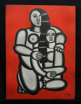 Fernand Leger Painting on Wood, Signed