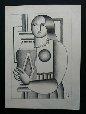 Fernand Leger Drawing, Signed, Framed