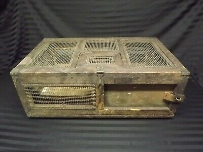 RARE WWII 10 Homing Pigeon Carrier Crate Cage PG-50 Original Signal Corps Army