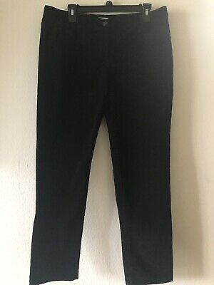 J.JILL Women's Stretch Corduroy Straight Leg Pants Black Size 12