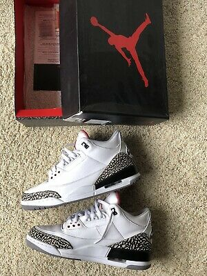 outlet store 1e02c 71864 2013 Nike Air Jordan Iii 3 Retro  88 1988 White Fire Red Cement Grey Black