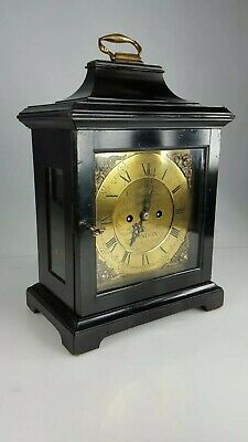 Square Dial Double Fusee bracket clock Benham And Son Wigmore Street London