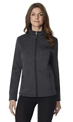 32 DEGREES Women's Fleece Tech Cozy Lined Zip Jacket, Htr Black, XS, Pre-Owned