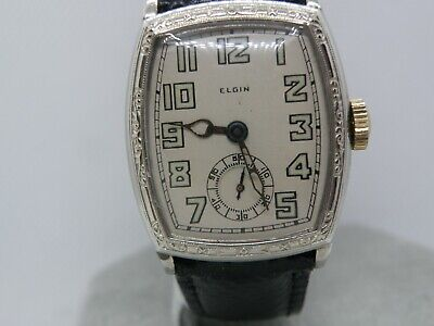 1920`s-30`s MEN`S ELGIN  ..NEW DIAL,NEW CRYSTAL..SERVICED...STUNS THE EYE ,YES ?