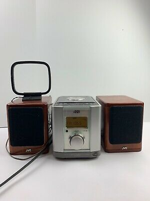 JVC Ultra Compact Mini Hifi Stereo Bookshelf System Silver FS-2000 Sounds Great!
