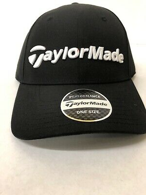 604cad03 TAYLOR MADE PERFORMANCE Seeker hat cap black white embroidered One ...