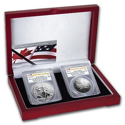 2019 RCM Pride of Two Nations 2-Coin Set PR-70 PCGS (FD) - SKU#195015