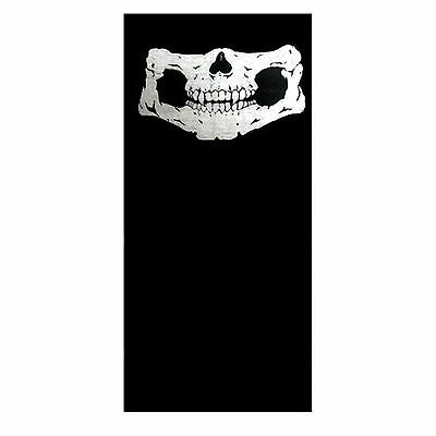 Tube Snood Scarf Full Size Human Skull Jawbone Black White Biker Mask Face Neck