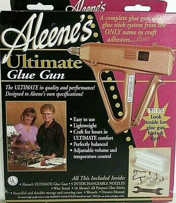 Aleene's Ultimate Glue Gun With Case Manual And Accessories NEW