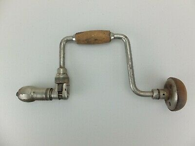 Vintage Stanley hand brace ratchet drill, No. 75 10IN made in England
