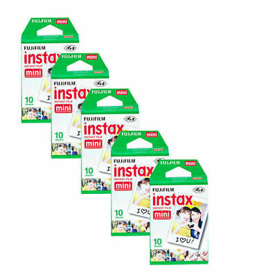 50 Prints Instax Mini Instant Film for Fuji 9 8 7S 50S 90 25 Camera Fujifilm