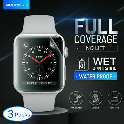 MaxShield Waterproof Screen Protector For Apple Watch Series 5/4 40/44mm 38/42mm