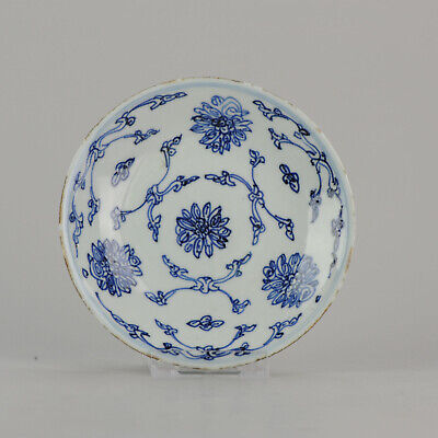 Antique 19th c Chinese Porcelain Kitchen Ching Straits Plate Qing Dynast...