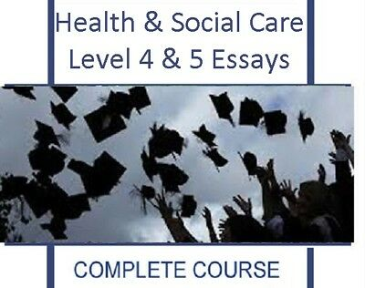 Hsc Qcf Nvq Svq Health Social Care Level 4 5 Full Course Essay Examples 14 Units