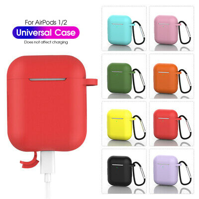 AirPods Case Protective Silicone Case Cover Skin Strap For Apple Air Pod 1 2