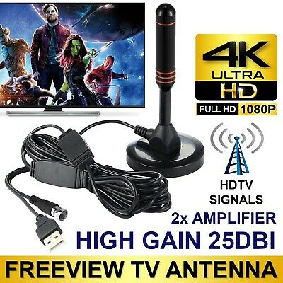200 Mile Range Antenna Digital Indoor HDTV 1080P TV 4K Antena Booster VHF/UHF