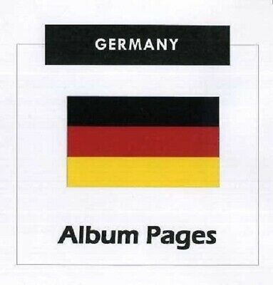 Germany - CD-Rom Stamp Album 1851- 2016 Color Illustrated Album Pages