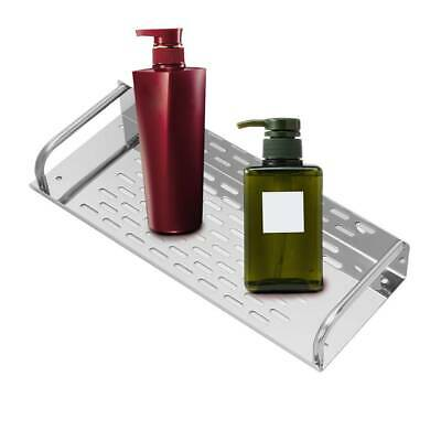 Stainless Steel Kitchen Bathroom Shelf Wall-mounted Storage Rack Single LayerX1