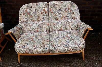 Quality Ercol 2 Seater Windsor Sofa  Blonde Windsor No Reserve Nice Condition