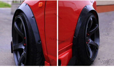 Rims Tuning 2x Wheel Thread Mudguard Widening Black 74cm for BMW 3 Series Coupe