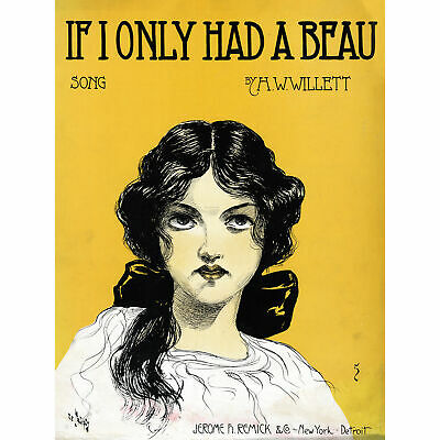 Takacs If I Only Had Beau Sheet Music Cover Artwork Huge Wall Art Poster Print