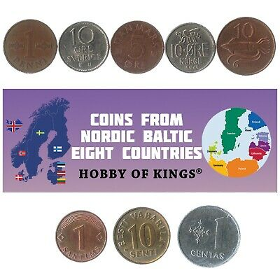 8 Nordic-Baltic Eight Nb8 Coins. Collectible Coins From Scandinavia And Baltic