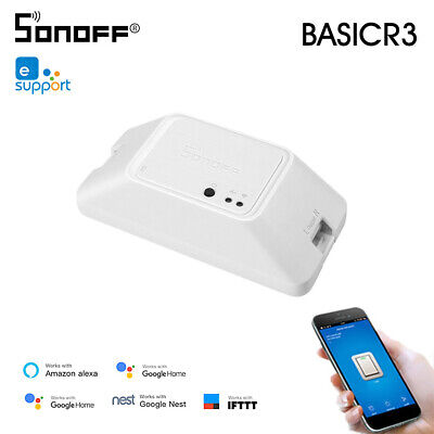 SONOFF BASICR3 WIFI DIY Smart Switch With Timer Internet APP Voice LAN V3D9