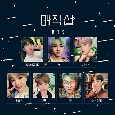 7pcs Kpop BTS Polaroid Photo Cards Jimin V 2019 5th Muster Collective Photocard