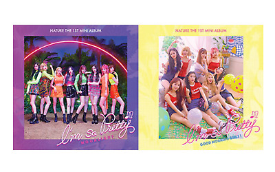 "NATURE New 1st Mini Album "" I'M SO PRETTY "" Moonlight Ver - 1 Photobook + 1 CD"