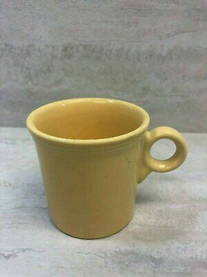 Fiesta HLC Homer Laughlin Sunflower Yellow 10.25 oz Coffee Mug Cup, USED SEE PIC