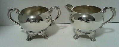 Vintage F.b Roger Silver.co Silverplate Sugar Bowl And Creamer Set
