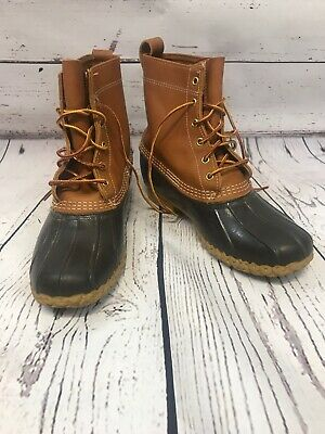 08a0349c816 LL BEAN DUCK Hunting Boots Mens Size 10 Brown Leather Rubber Genuine ...