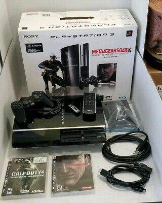 PlayStation 3 Metal Gear Solid 4 80GB Console BACKWARDS COMPATIBLE PS3 COMPLETE!