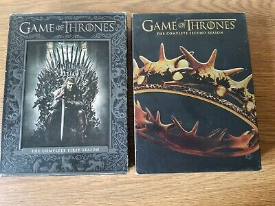 GAME OF THRONES dvd Seasons 1 and 2 box sets