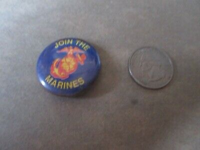 Original Wwii Homefront Usmc Ega Join The Marines  Button