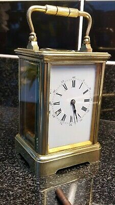 Fine Antique French Brass  Carriage Clock