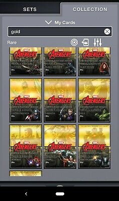 Topps MARVEL COLLECT! Collector's Box - GOLD RESERVE Avengers Complete Set 10