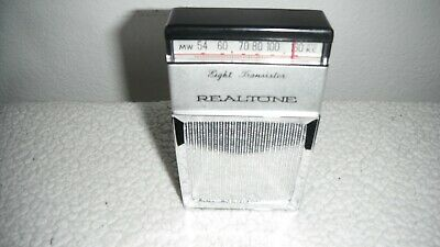 Realtone TR-1820 AM Radio 8 Transistor Receiver Vintage 1960's with Case